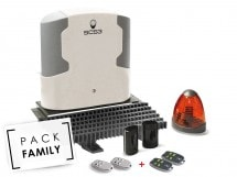 Pack Family Medium coulissant, SCS3 comfort + 2 télécommandes supp, SCS3 comfort + 2 télécommandes supp