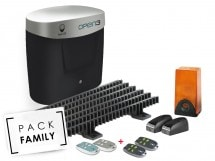 Pack Family Premium coulissant, OPEN 3 comfort + 2 télécommandes supp, OPEN 3 comfort + 2 télécommandes supp