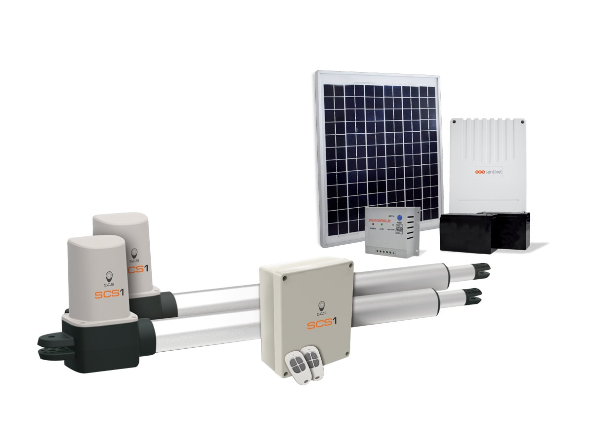 motorisation portail battant solaire scs 1 eco energy scs sentinel