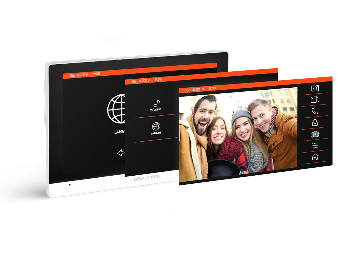 SCS Sentinel Interphone vid/éo Filaire /écran Plat Tactile 7 VisioDoor 7+