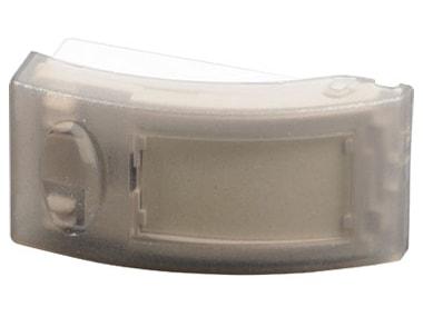 Coque Blanc SCS SEN4130986 Bouton poussoir rectangulaire lumineux avec porte /étiquette